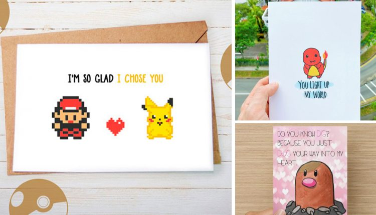 Adorable Valentine's Cards for Your Pokémon-Loving Sweetheart