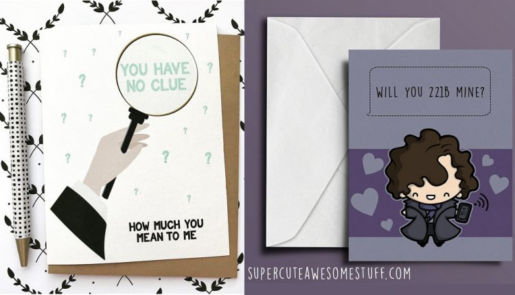 Sherlock Themed Valentine Cards for any Die-Hard Fan